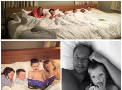 Czy można spać w jednym łóżku w 6 osób? Ta rodzina się na to zdecydowała!