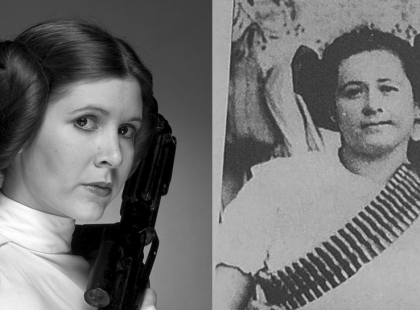 """Czy wiecie, że księżniczka Leia z """"Gwiezdnych Wojen"""" miała fryzurę meksykańskich rewolucjonistek?!"""