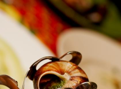 Ślimaki były wykorzystywane m.in. do ozdabiania potraw.