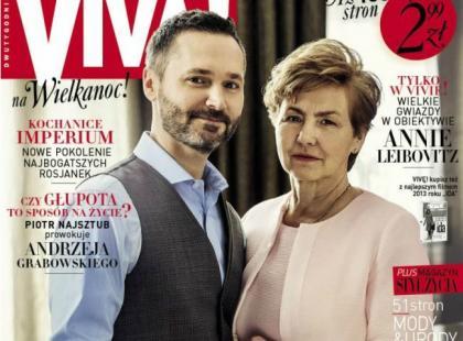 """Danuta Wałęsa z synem na okładce nowego numeru """"Vivy!"""""""