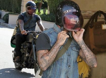 David Beckham na przejażdżce motorem. Na chwilę odpoczął od rodziny