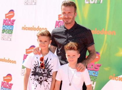David Beckham to najprzystojniejszy ojciec świata. Zabrał synów na dużą galę