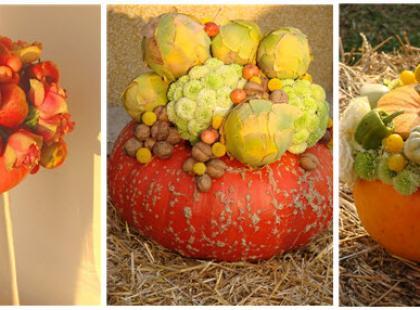 Dekoracje ślubne z warzywami