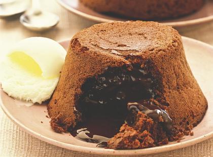 Delikatny czekoladowy suflet