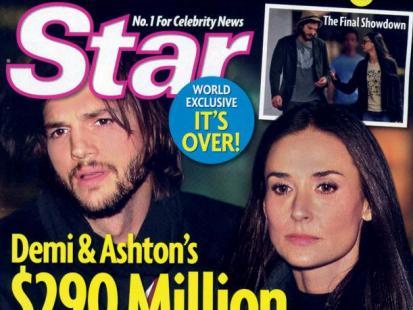 Demi Moore i Ashton Kutcher walczą o pieniądze