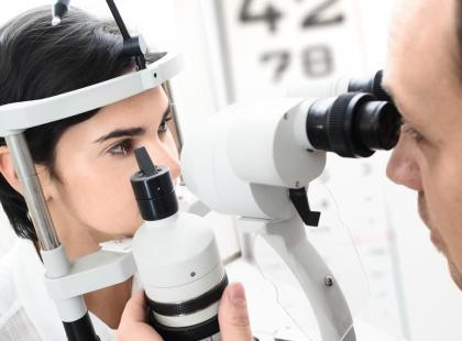 Badanie OCT pokazuje przekroje gałki ocznej./fot. Fotolia