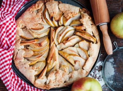 Dietetyczny przepis na tartę z jabłkami