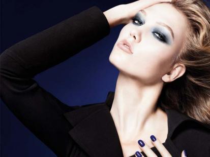 Dior Blue Tie - look na jesień 2011