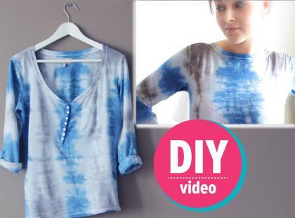 DIY z Ulą: koszulka farbowana metodą batiku [video]