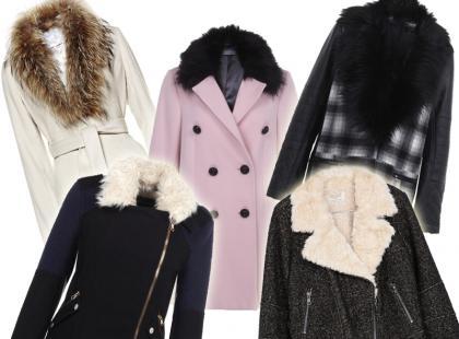 Dla elegantek: zimowe kurtki i płaszcze z futrzanymi kołnierzami