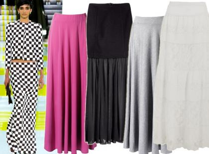 Długie spódnice to modowy must-have lata 2013