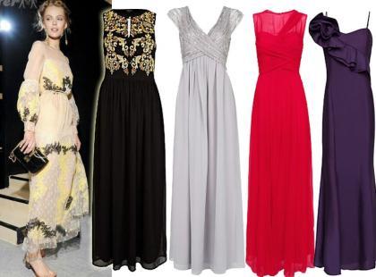 Długie sukienki na studniówkę 2013
