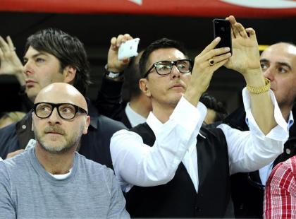 Dolce & Gabbana na meczu piłki nożnej