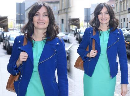 Dominika Kulczyk stawia na wciąż modny color blocking