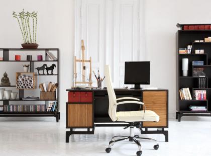 Domowe biuro dobrze zorganizowane - Meble VOX