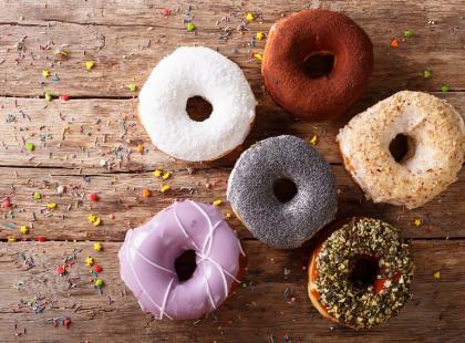Donuty z posypką