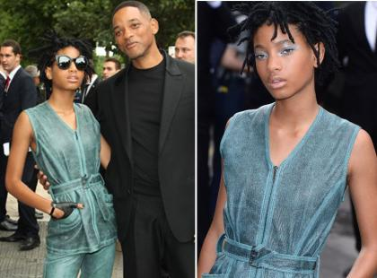 Dumny tata Will Smith z 15-letnią córką na Paris Fashion Week