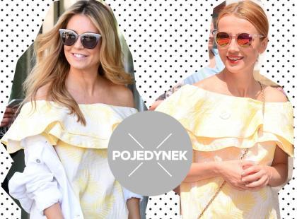Dwie gwiazdy pojawiły się w tej samej sukience polskiej marki. Która wyglądała lepiej?