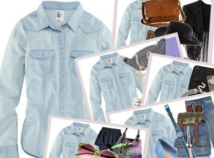 Dżinsowa koszula na 5 sposobów