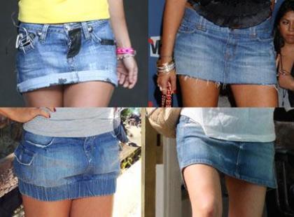 Dźinsowe spódniczki
