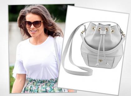 Edyta Herbuś nosi torebkę polskiej projektantki