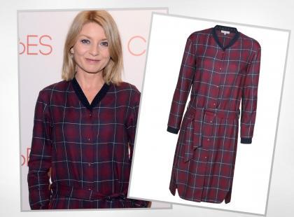 Edyta Olszówka w koszulowej sukience w kratę. Gdzie ją kupiła?