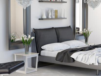 Elegancka i nowoczesna sypialnia