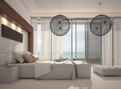 Elegancka i stylowa sypialnia na szaro