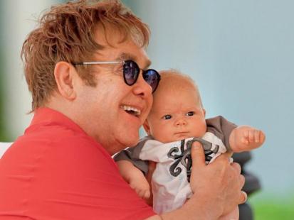Elton John i David Furnish - Szczęśliwi ojcowie