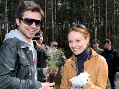 Ewelina Flinta i Łukasz Zagrobelny
