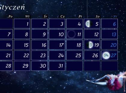 Fazy Księżyca w 2013 roku - plansze