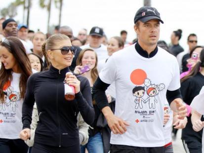 Fergie i Paris Hilton pobiegły dla Japonii