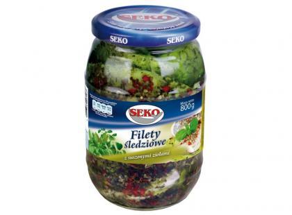Filety śledziowe z suszonymi ziołami SEKO