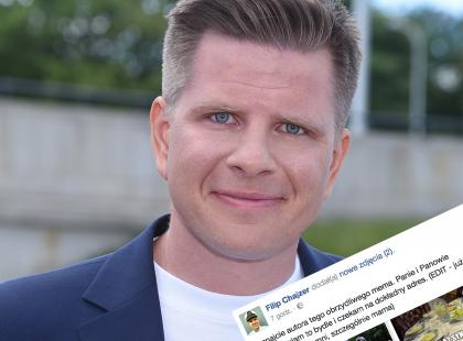 Filip Chajzer został bohaterem obrzydliwego mema. Na szczęście namierzył już autora