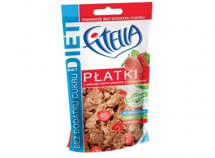 Fitella Diet z pełnego ziarna z dodatkiem błonnika i truskawek