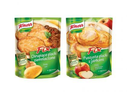 Fix Knorr – Puszyste placki z jabłkami oraz Chrupiące placki ziemniaczane