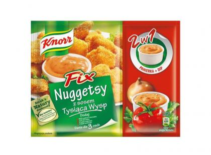 Fix Nuggetsy z sosem Tysiąca Wysp Knorr