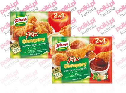 Fixy Knorr: Chrupery z kurczaka z dipem serowym oraz Chrupery z kurczaka z dipem BBQ