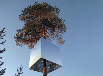Futurystyczny dom na drzewie