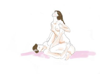 Galeria pozycji Kamasutry, w których rządzi kobieta!