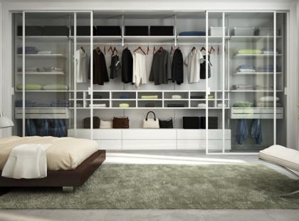 Garderoba w sypialni - różne rozwiązania