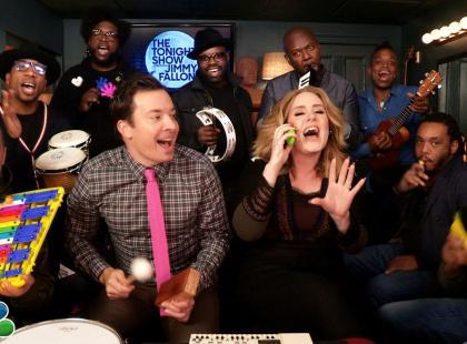"""Genialna wersja """"Hello""""! Adele, Jimmy Fallon, The Roots i... dziecięce instrumenty"""