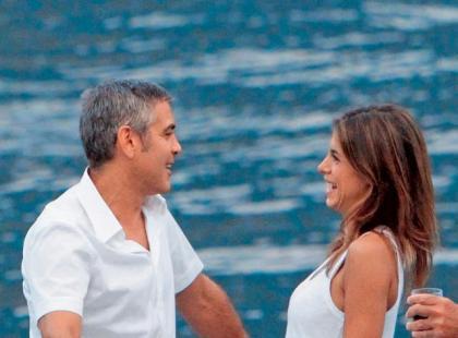 George Clooney i Elisabetta Canalis - Boskie wakacje playboya
