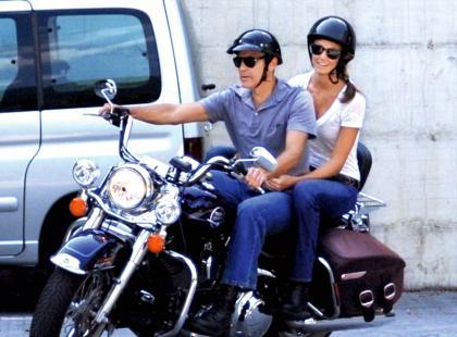 George Clooney i Stacy Keibler - Miłosne zapasy