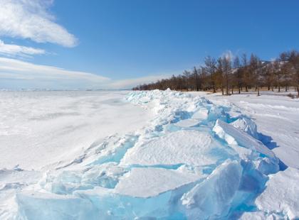 Giżycko skute lodem