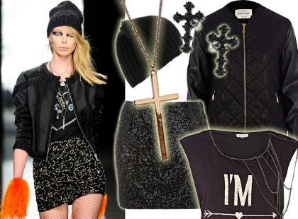 Glam-rockowy look w stylu Frankie Morello