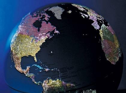 Globus ukazujący dzień i noc