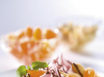 Gofry z truskawkowym kremem