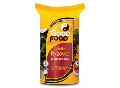 Good Food Wafle ryżowe z dodatkiem pełnych słońca ziaren słonecznika