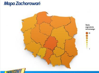 Grypa – największe ryzyko zachorowania jest w regionie Łódzkim, Pomorskim i Śląskim
